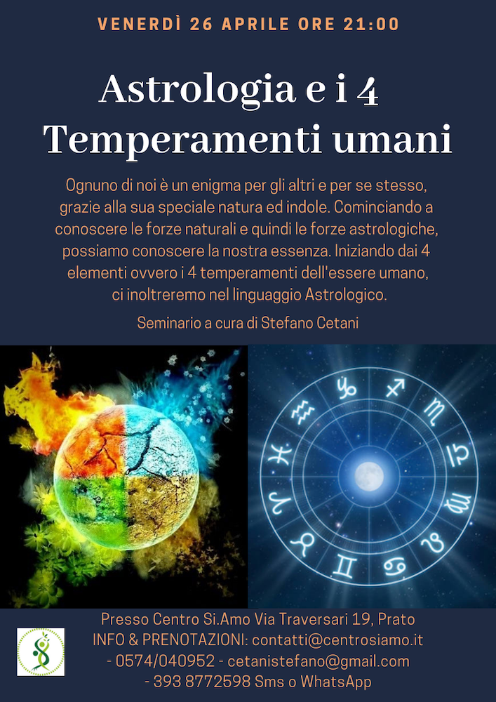 Astrologia e i 4 Temperamenti umani